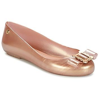 Obuća Žene  Balerinke i Mary Jane cipele Melissa VW SPACE LOVE 18 ROSE GOLD BUCKLE Ružičasta / Zlatna