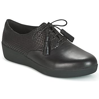 Obuća Žene  Derby cipele FitFlop CLASSIC TASSEL SUPEROXFORD Crna
