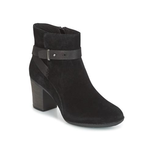 Obuća Žene  Derby cipele Clarks ENFIELD SARI Crna / Suede