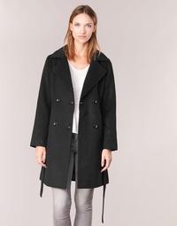Odjeća Žene  Kaputi Casual Attitude HALLOA Crna