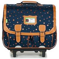 Torbe Djevojčica (Školske) torbe s kotačićima Tann's ETOILE MARINE TROLLEY CARTABLE 41CM Blue