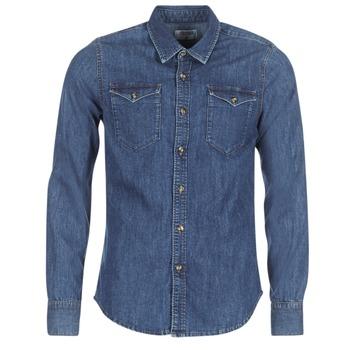 Odjeća Muškarci  Košulje dugih rukava Casual Attitude IHERZI Blue