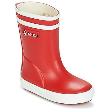 Obuća Djeca Gumene čizme Aigle BABY FLAC Red / Bijela