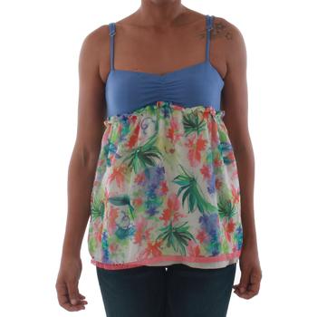 Odjeća Žene  Majice s naramenicama i majice bez rukava Fornarina VIOLAINE_MULTICOLOR Azul