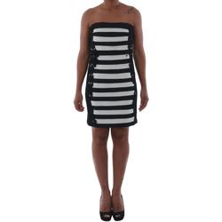 Odjeća Žene  Kratke haljine Rinascimento 322B.012_BIANCO Negro