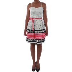 Odjeća Žene  Kratke haljine Rinascimento 1384/16M_FUXIA Blanco