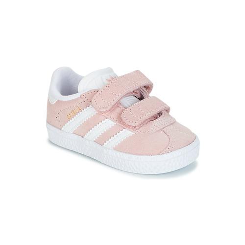 Obuća Djevojčica Niske tenisice adidas Originals GAZELLE CF I Ružičasta