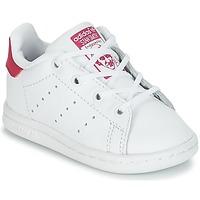 Obuća Djevojčica Niske tenisice adidas Originals STAN SMITH I Bijela / Ružičasta