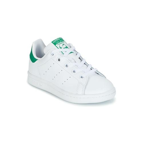 Obuća Djeca Niske tenisice adidas Originals STAN SMITH C Bijela / Zelena