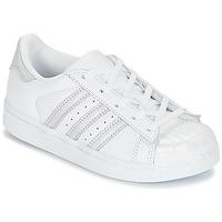Obuća Djevojčica Niske tenisice adidas Originals STAN SMITH C Bijela / Srebrna