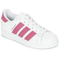 Obuća Djevojčica Niske tenisice adidas Originals SUPERSTAR J Bijela / Pink