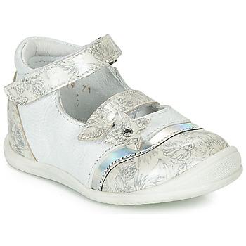 Obuća Djevojčica Balerinke i Mary Jane cipele GBB STACY Bijela / Srebrna