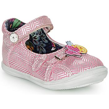 Obuća Djevojčica Balerinke i Mary Jane cipele Catimini SITELLE Vte / Ružičasta-srebrna / Dpf / 2851