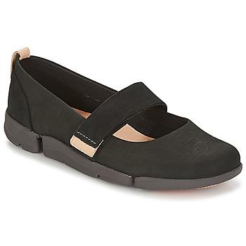 Obuća Žene  Balerinke i Mary Jane cipele Clarks TRI CARRIE Crna