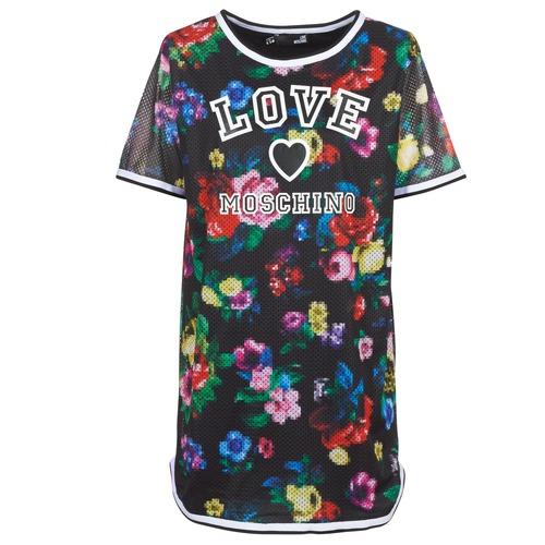 Odjeća Žene  Kratke haljine Love Moschino W5A0302 Crna / Multicolour