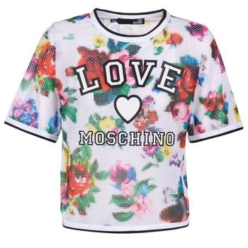 Odjeća Žene  Topovi i bluze Love Moschino W4G2801 Bijela / Multicolour