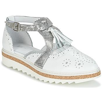 Obuća Žene  Derby cipele Regard RASTANU Bijela / Srebrna