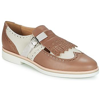 Obuća Žene  Derby cipele Geox JANALEE B Sand / Bijela