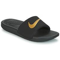 Obuća Djeca Sportske natikače Nike KAWA GROUNDSCHOOL SLIDE Crna / Gold