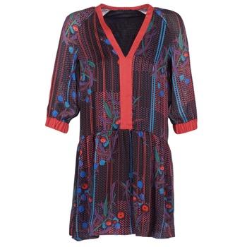 Odjeća Žene  Kratke haljine Sisley CEPAME Crna / Red / Blue