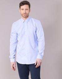 Odjeća Muškarci  Košulje dugih rukava Sisley KELAPSET Blue / Svijetla