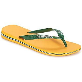 Obuća Japanke Havaianas BRAZIL LOGO Žuta