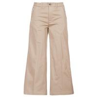 Odjeća Žene  Chino hlačei hlače mrkva kroja G-Star Raw BRONSON HIGH LOOSE CHINO 7/8 WMN Béžová