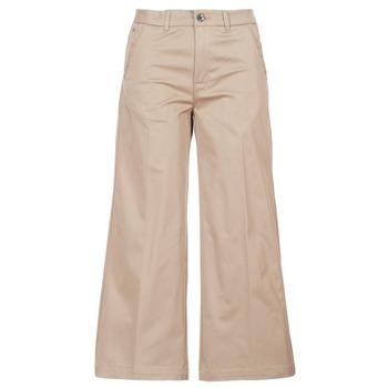 Odjeća Žene  Chino hlačei hlače mrkva kroja G-Star Raw BRONSON HIGH LOOSE CHINO 7/8 WMN Bež