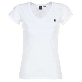 Odjeća Žene  Majice kratkih rukava G-Star Raw EYBEN SLIM V T WMN S/S Bijela
