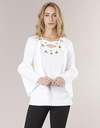 Odjeća Žene  Topovi i bluze MICHAEL Michael Kors POPLIN GRMT LCE UP T. Bijela