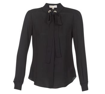 Odjeća Žene  Topovi i bluze MICHAEL Michael Kors GROMMET NK TIE BLSE Crna
