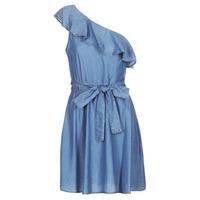 Odjeća Žene  Kratke haljine MICHAEL Michael Kors ONE SHLDR RUFFLE DRS Denim