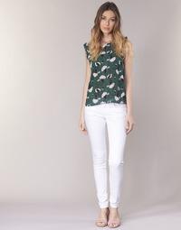 Odjeća Žene  Hlače s pet džepova Le Temps des Cerises 316 Bijela