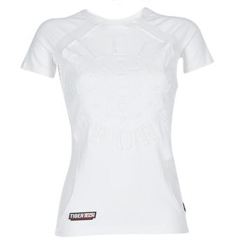 Odjeća Žene  Majice kratkih rukava Philipp Plein Sport FORMA LINEA Bijela / Bijela