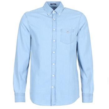 Odjeća Muškarci  Košulje dugih rukava Gant THE INDIGO REG Blue