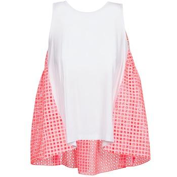 Odjeća Žene  Majice s naramenicama i majice bez rukava Manoush AJOURE CARRE Bijela / Ružičasta