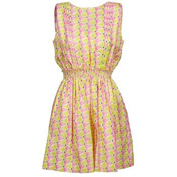 Odjeća Žene  Kratke haljine Manoush FLAMINGO Ružičasta / Žuta