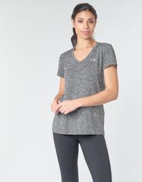 Odjeća Žene  Majice kratkih rukava Under Armour TECH SSV - TWIST Crna / Siva