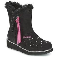 Obuća Djevojčica Čizme za snijeg Skechers SPARKLES Crna / Ružičasta