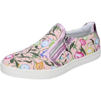 Obuća Djevojčica Slip-on cipele Didiblu slip on rosa pelle tela strass AG479 Rosa