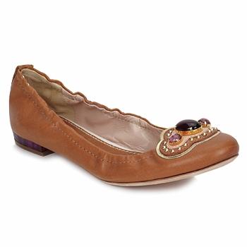 Obuća Žene  Balerinke i Mary Jane cipele Sebastian AMARILLI Camel