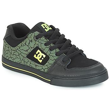 Obuća Djeca Niske tenisice DC Shoes PURE SE B SHOE BK9 Crna / Zelena