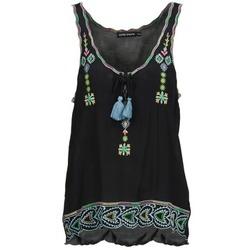 Odjeća Žene  Majice s naramenicama i majice bez rukava Antik Batik SANAH Crna