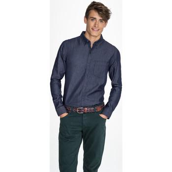 Odjeća Muškarci  Košulje dugih rukava Sols BARRY MEN DENIM Azul