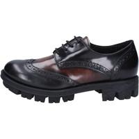 Obuća Žene  Derby cipele Lea Foscati classiche nero pelle lucida marrone AD743 Nero