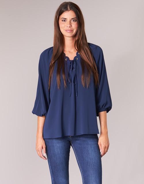 Odjeća Žene  Topovi i bluze MICHAEL Michael Kors SCALLP GRMT CHAIN TOP Blue