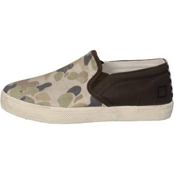 Obuća Dječak  Slip-on cipele Date slip on verde tessuto beige AD846 Verde