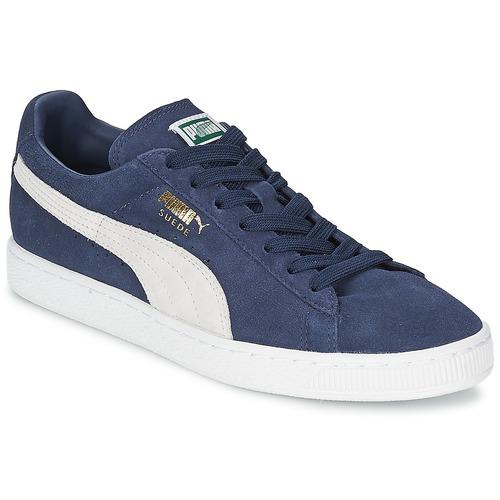 Obuća Niske tenisice Puma SUEDE CLASSIC + Blue / Bijela