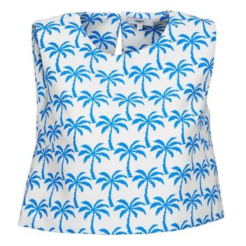 Odjeća Žene  Majice s naramenicama i majice bez rukava Suncoo LANA Bijela / Blue