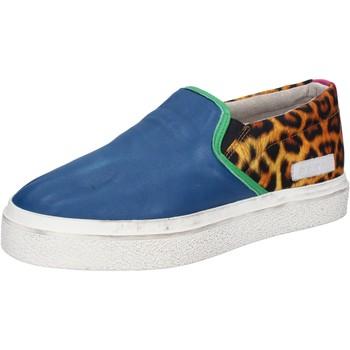 Obuća Žene  Slip-on cipele Date slip on blu pelle tessuto AB540 Blu